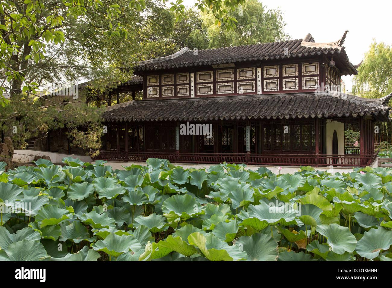Amministratore di umile del giardino di Suzhou, Cina. Immagini Stock