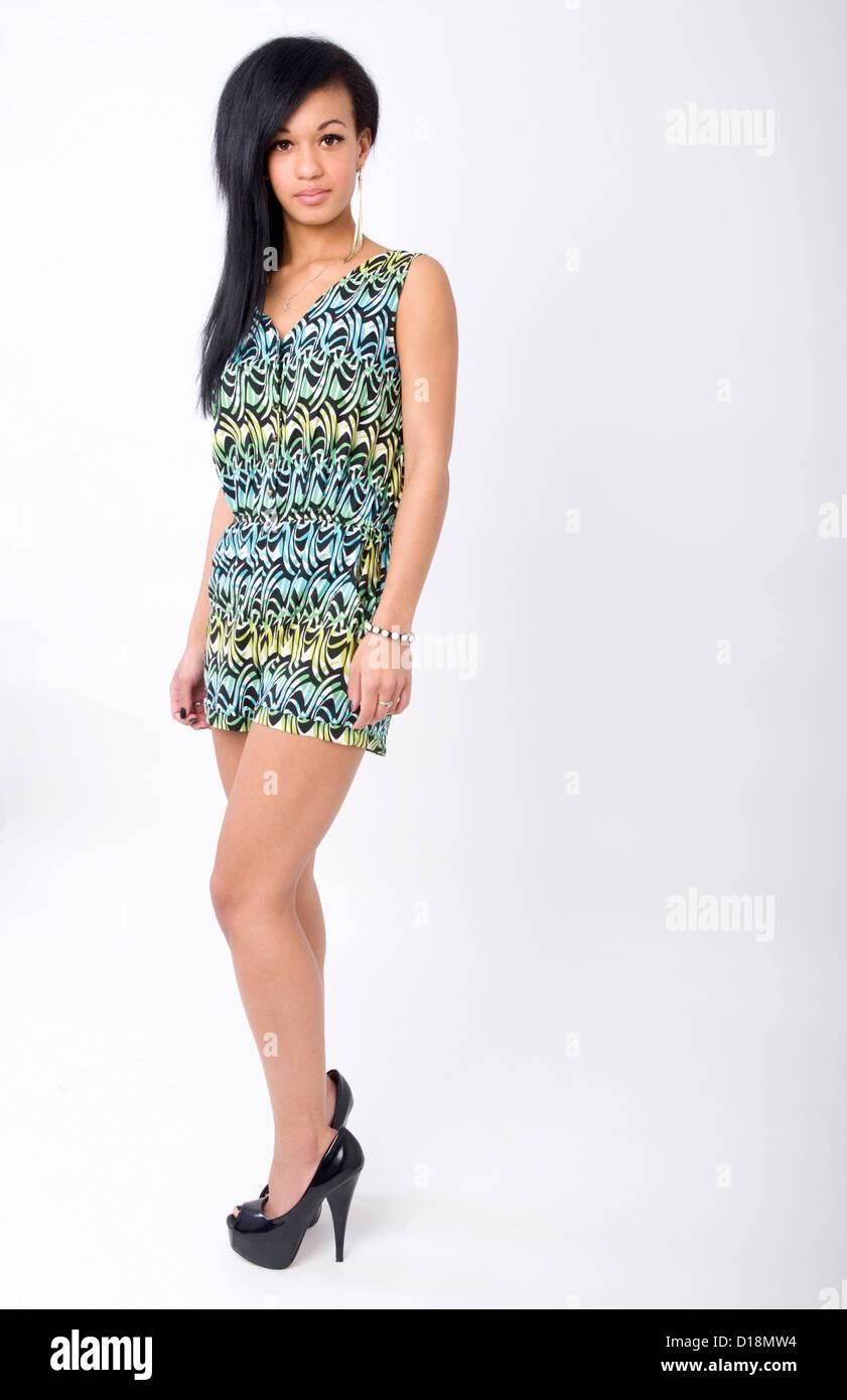Teenage Girl Standing High Heels Immagini e Fotos Stock Alamy
