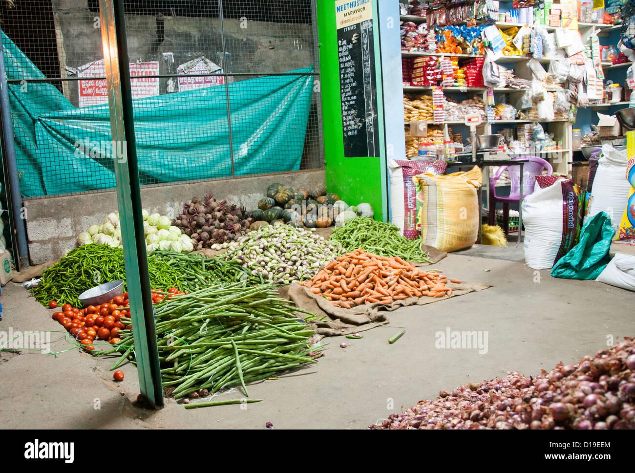 Locale negozio di alimentari tamilnadu, India Immagini Stock
