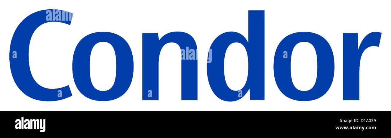 Il logo della compagnia aerea Condor. Immagini Stock