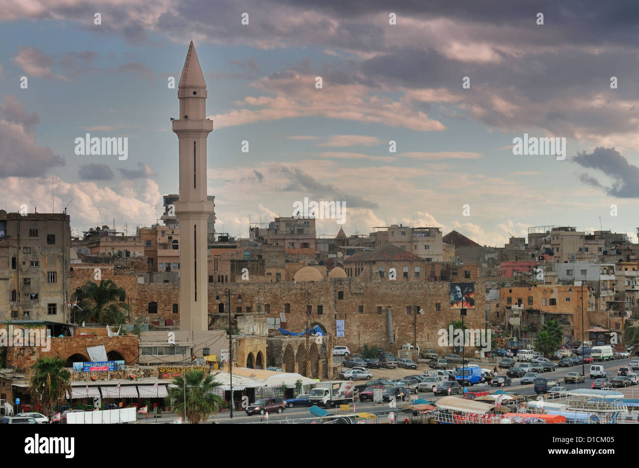 Sida, Sidone Sud del Libano Immagini Stock