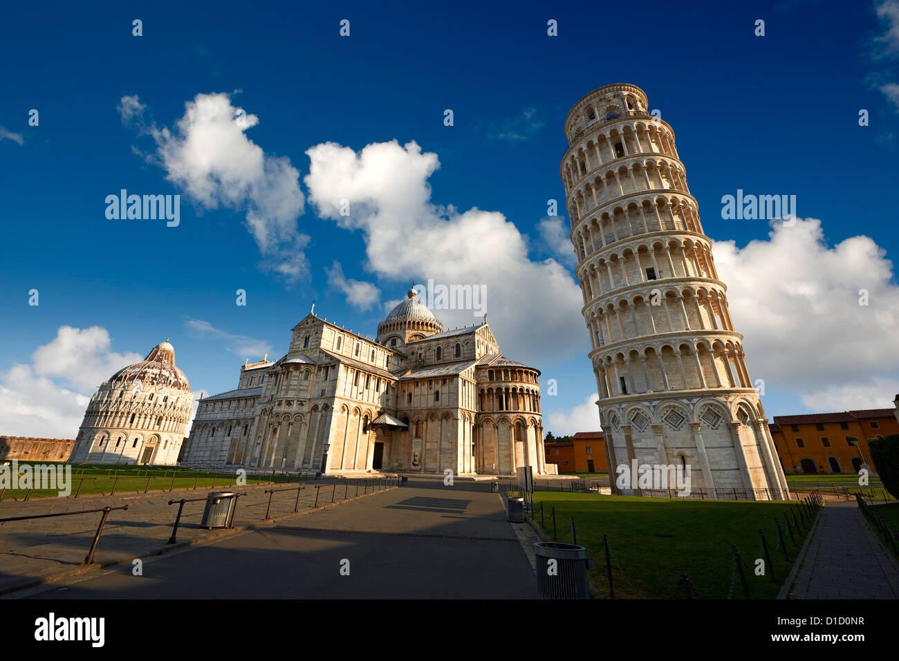 La Torre Pendente di Pisa, Italia Immagini Stock