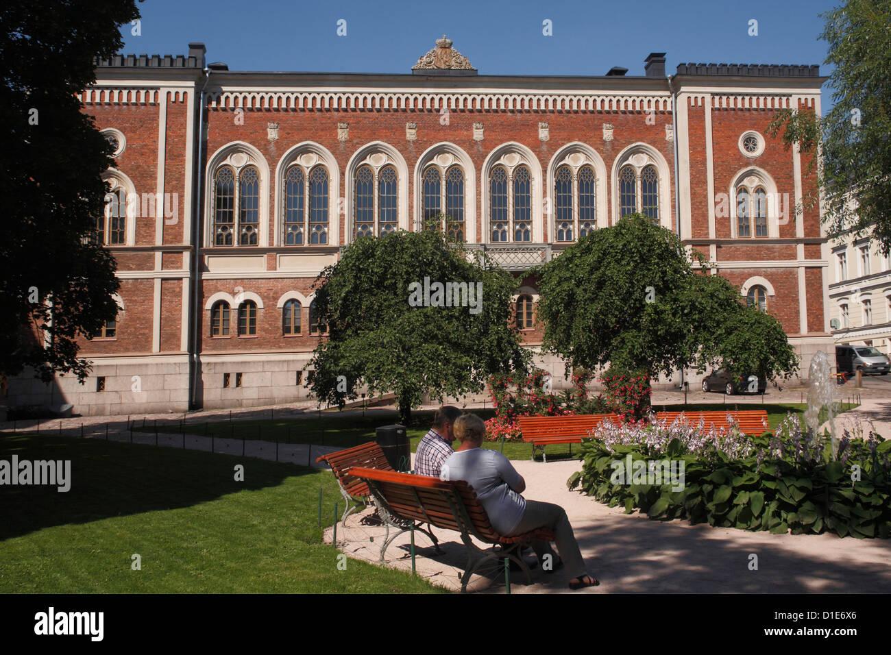 La casa della Nobiltà (Riddarhuset), Helsinki, Finlandia e Scandinavia, Europa Immagini Stock