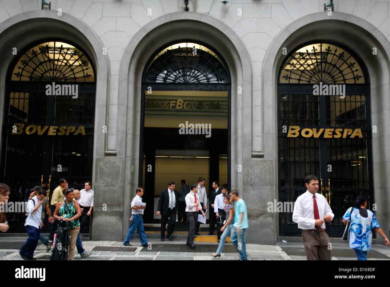 Il Bovespa stock exchange, Sao Paulo, Brasile, Sud America Immagini Stock