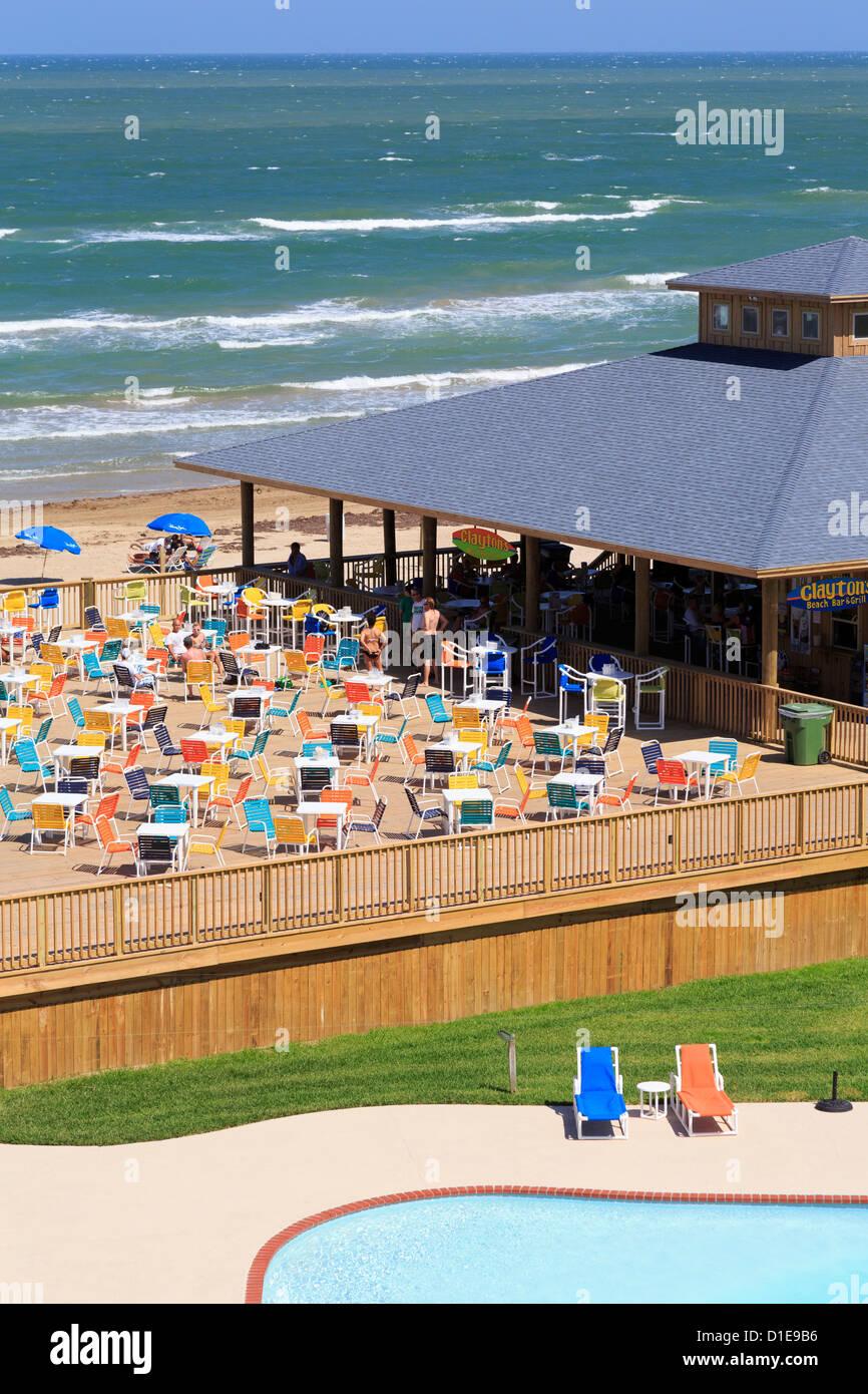 Sulla spiaggia di South Padre Island, Texas, Stati Uniti d'America, America del Nord Immagini Stock