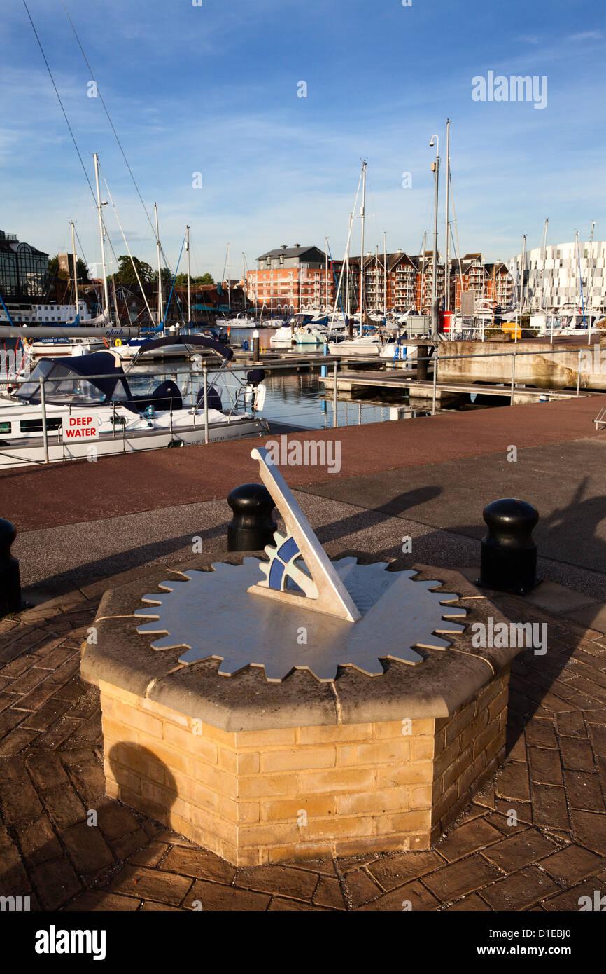 Meridiana a Ipswich Haven Marina, Ipswich, Suffolk, Inghilterra, Regno Unito, Europa Immagini Stock