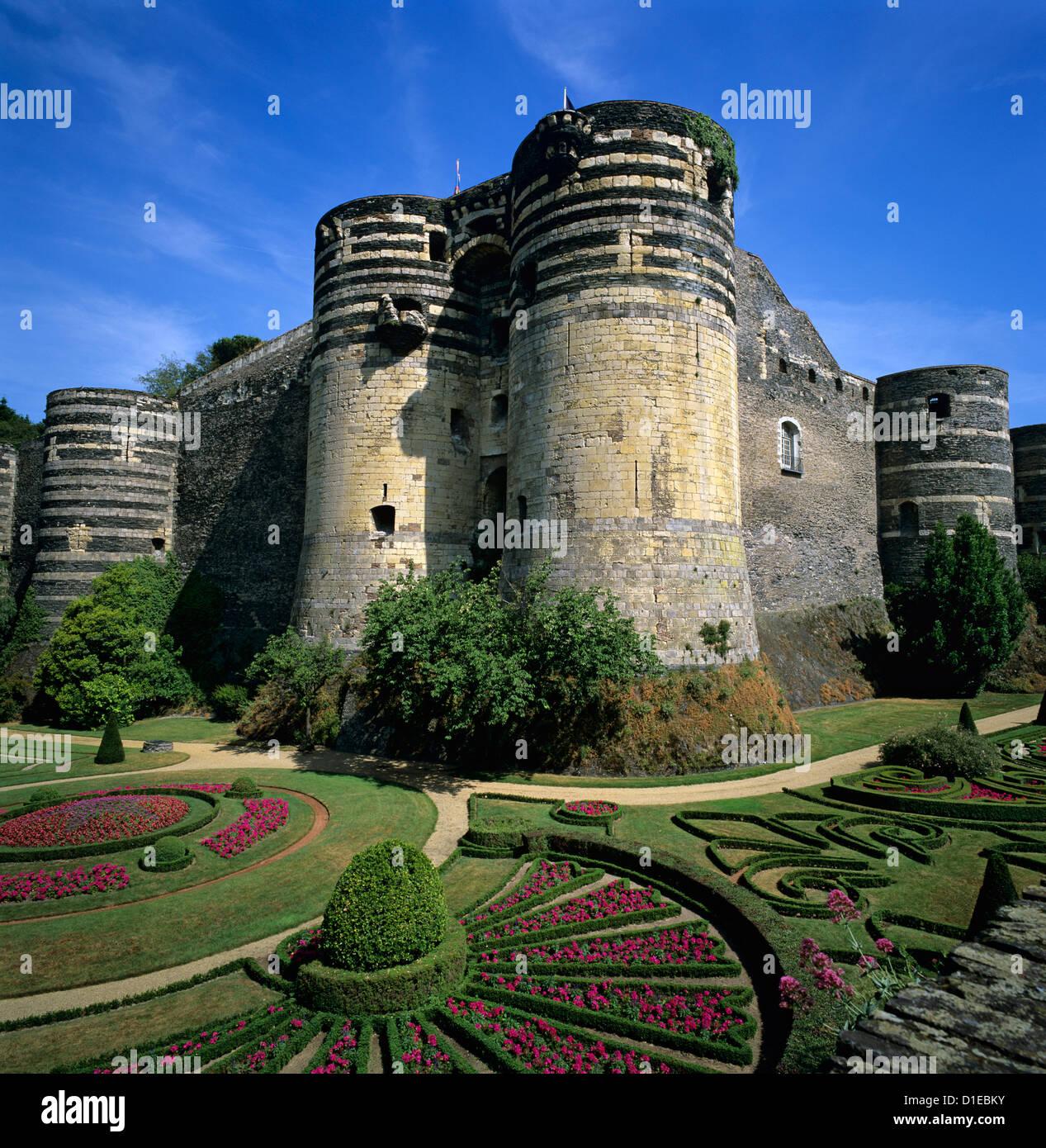 Chateau d'Angers, Angers e la Valle della Loira, Pays-de-la-Loire, Francia, Europa Immagini Stock
