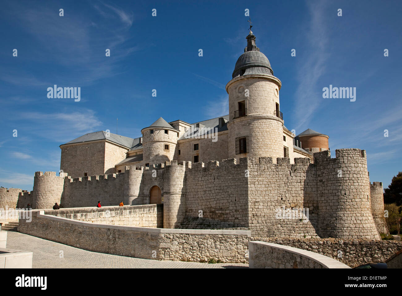 Castello Archivio Storico Simancas Valladolid Castiglia e Leon Spagna Immagini Stock
