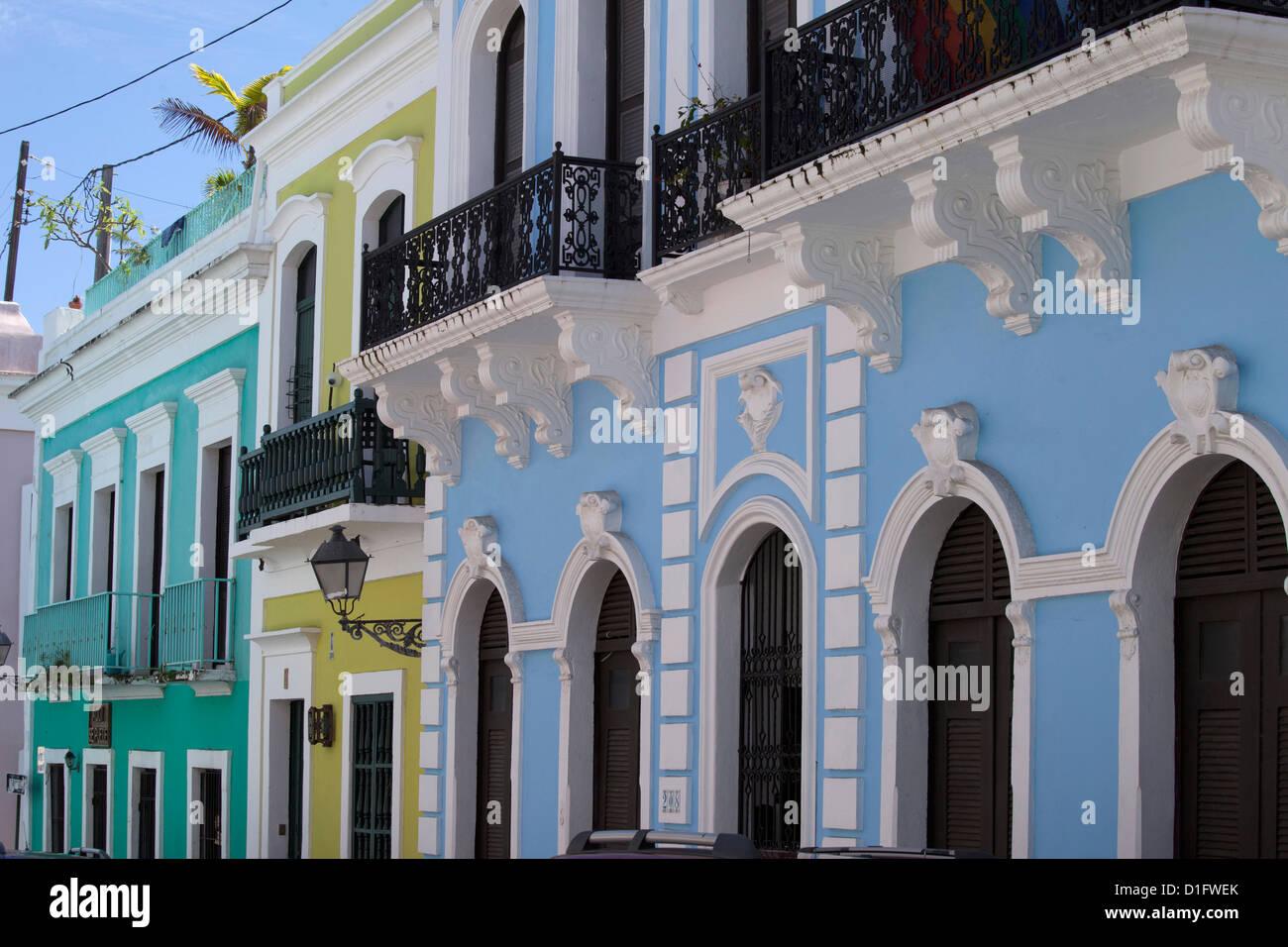 La città coloniale di San Juan, Puerto Rico, West Indies, Caraibi, Stati Uniti d'America, America Centrale Immagini Stock