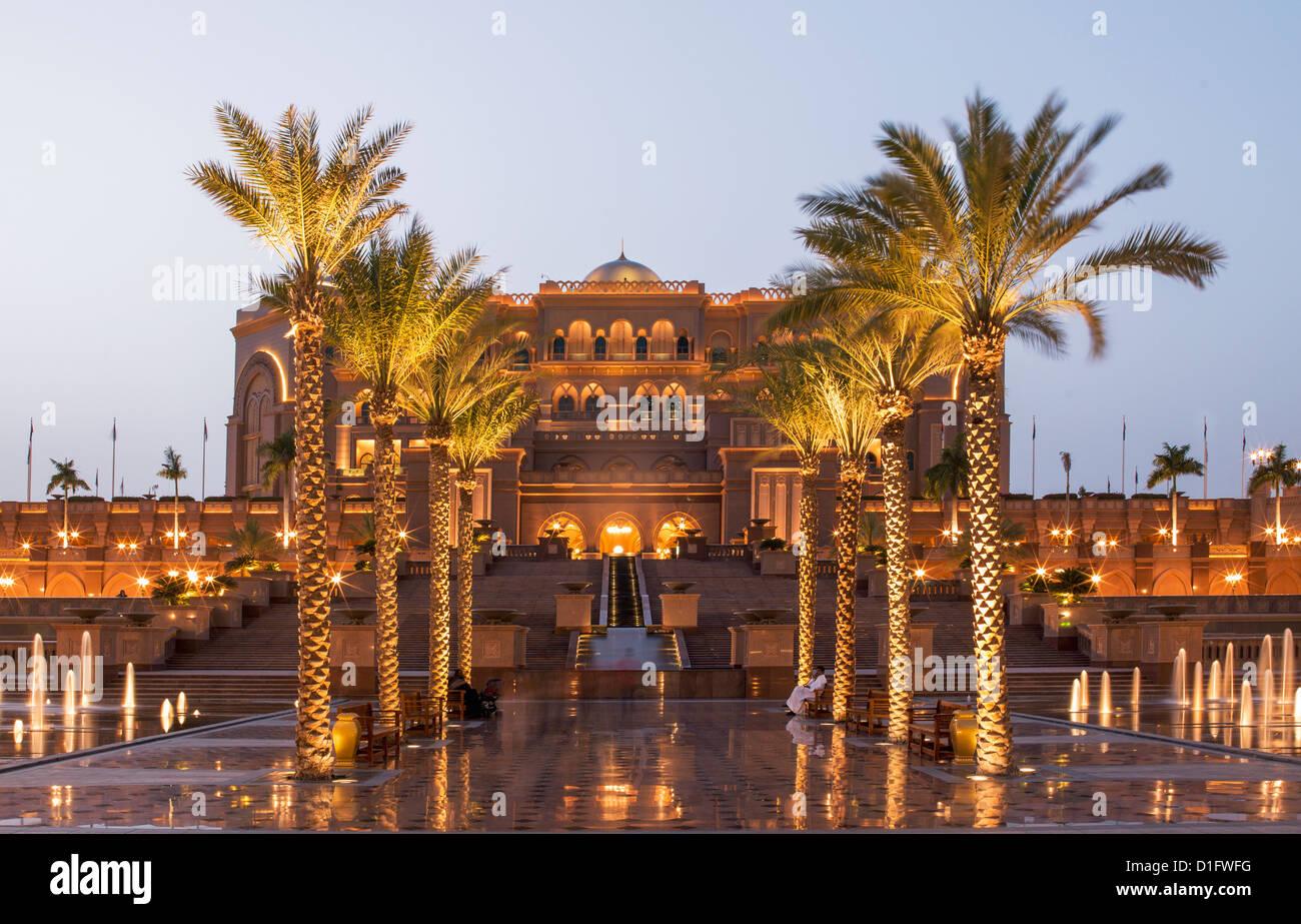 Emirates Palace Hotel Abu Dhabi, Emirati Arabi Uniti, Medio Oriente Immagini Stock
