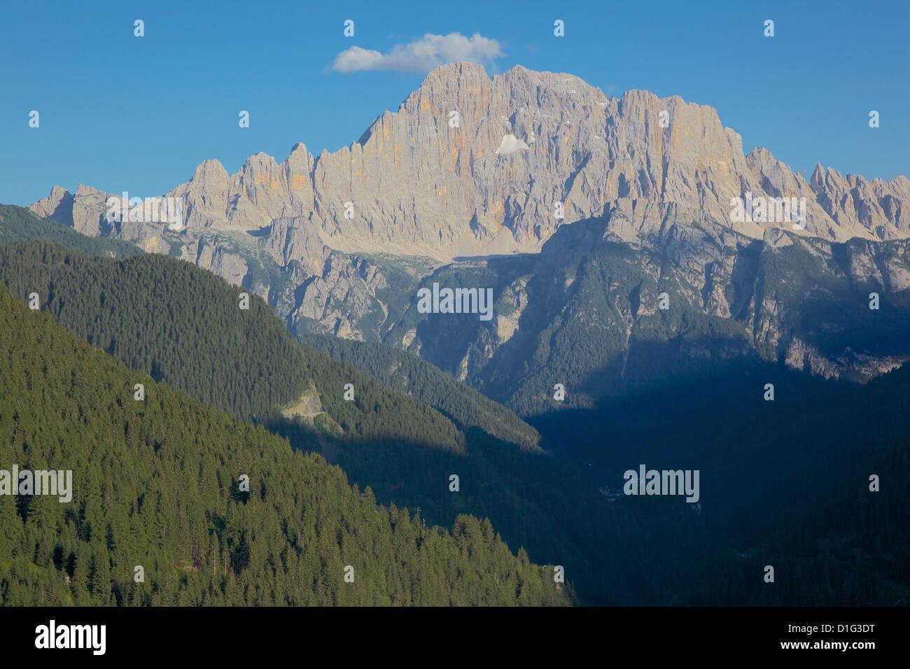 Passo Tre Croci, Provincia di Belluno, Veneto, Dolomiti italiane, Italia, Europa Immagini Stock