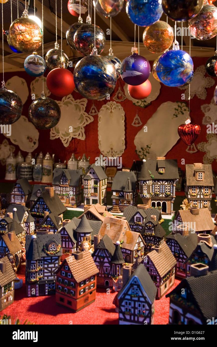 Decorazione di natale in stallo, Berlino, Germania, Europa Immagini Stock