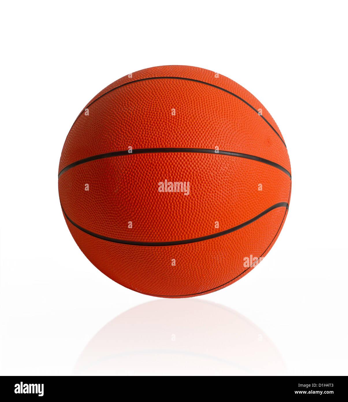 Basket il mondo sport preferito giochi isolato su bianco Immagini Stock
