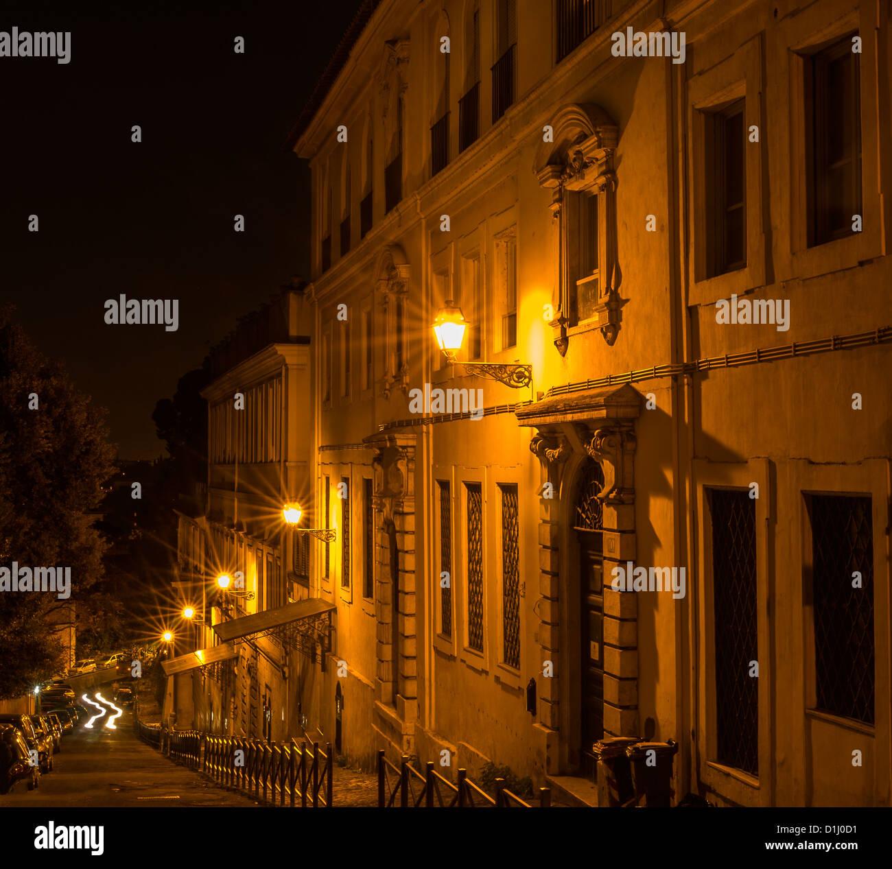 Illuminazione Neon Per Ufficio.Piu Luci Al Neon Con Illuminazione Starbursts Una Strada E Edifici
