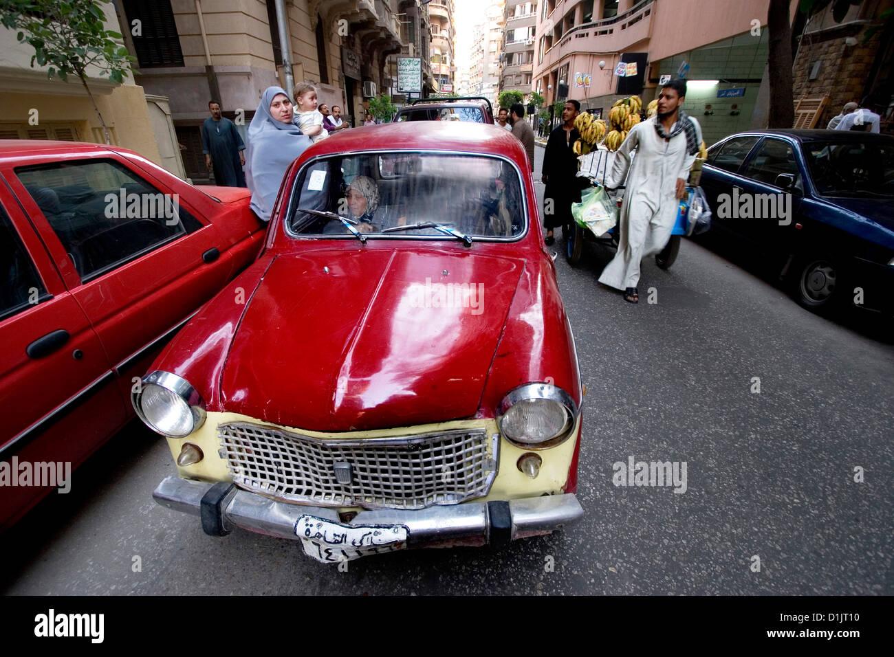 Egitto Cairo street scene Foto Stock