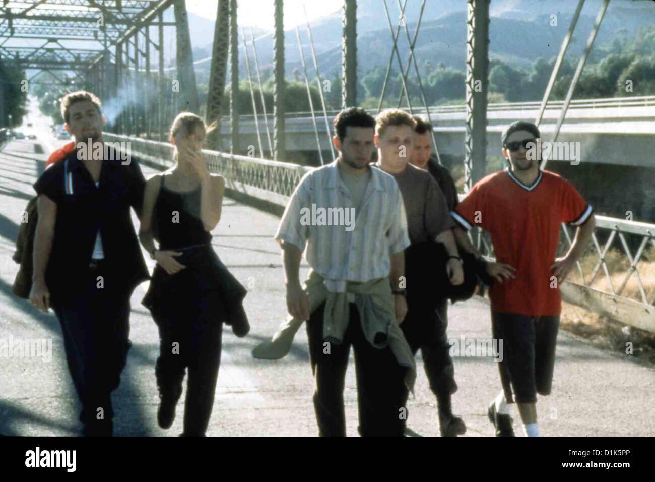 Nato male nato male Craig (Francesco Ryan, Laura (Heidi Noelle Lenhart), Brian (Justin Walker), Evan (Patrick Renna)?, Immagini Stock