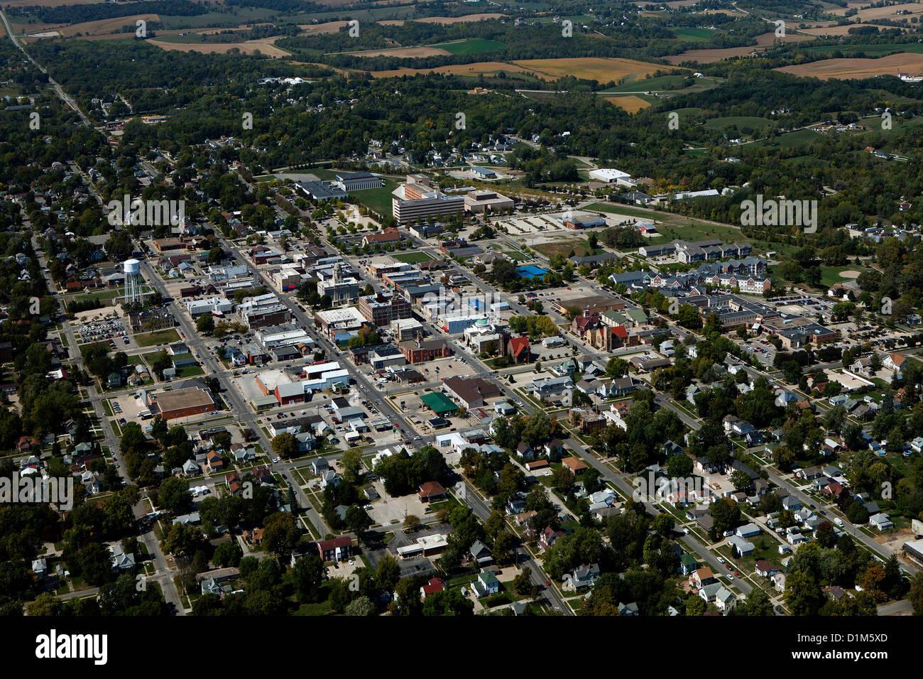 Fotografia aerea Newton, Iowa Immagini Stock