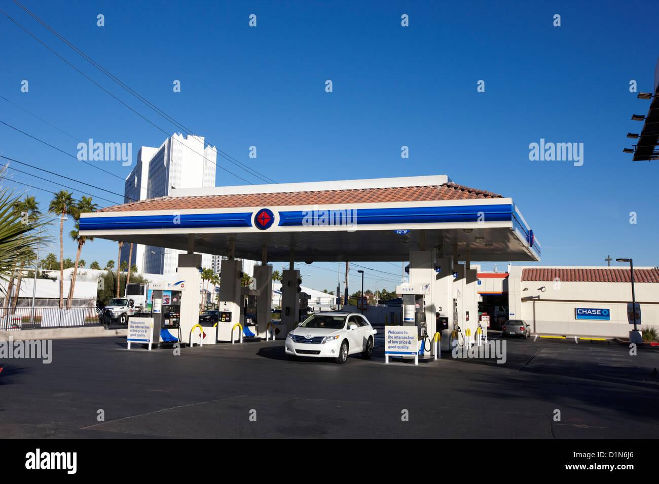 Atlantic Richfield company arco gas stazione carburante Las Vegas Nevada USA Immagini Stock