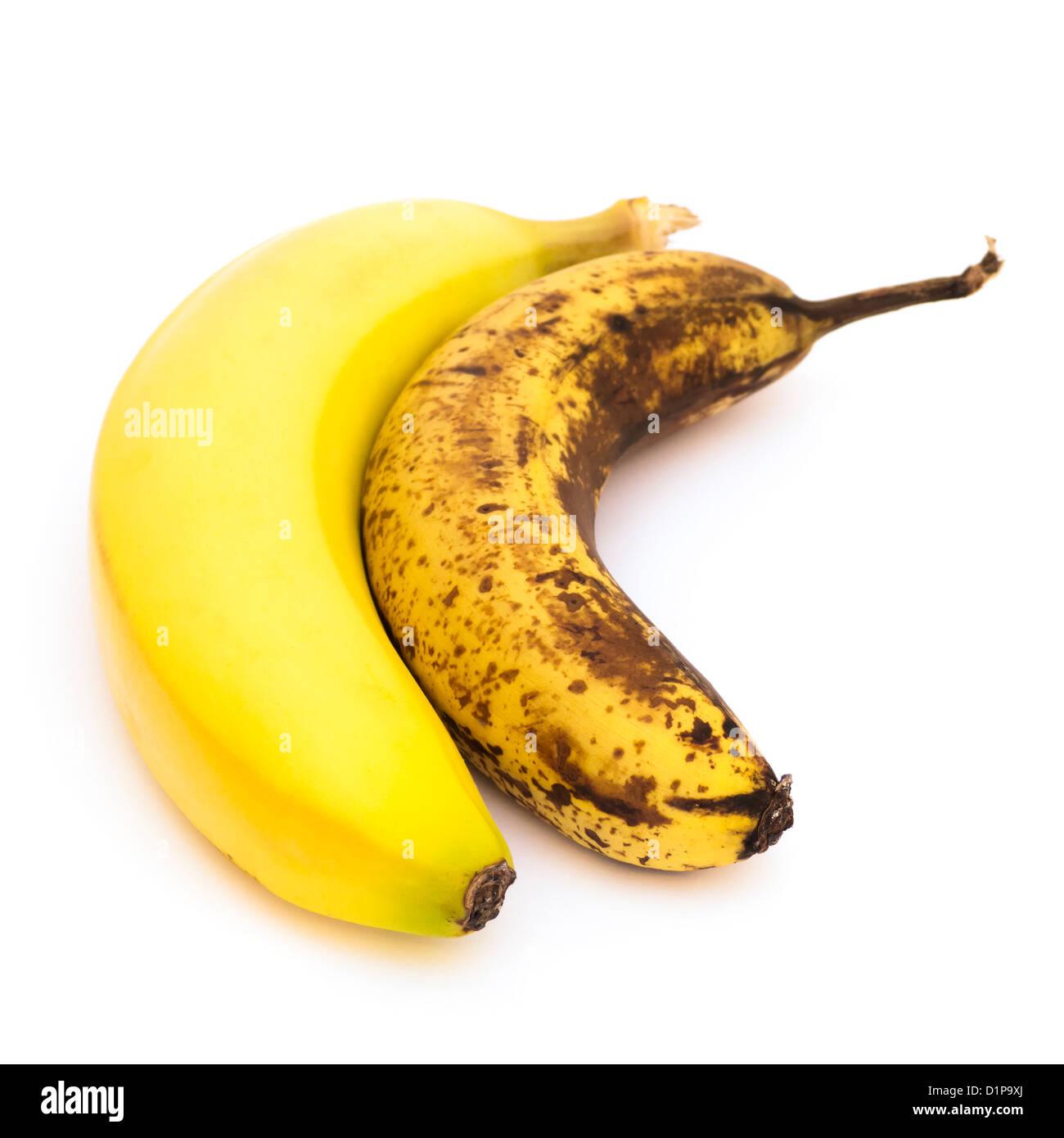 Banane di invecchiamento Immagini Stock