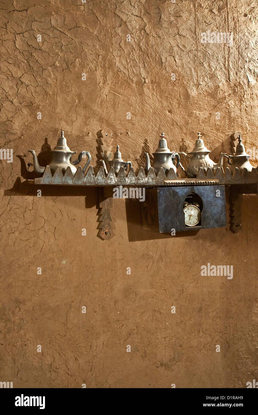 Il Marocco, vicino a Zagora, kasbah Ziwane. Museo delle Arti e Tradizioni da Valle di Draa. Immagini Stock