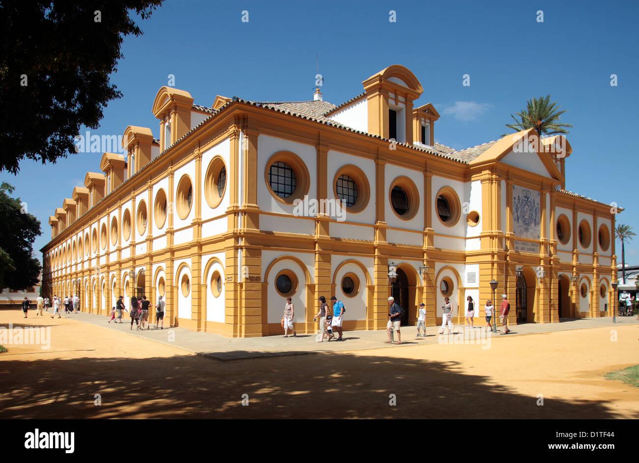 Jerez de la Frontera, in Spagna, la reale andalusa di equitazione Scuola d'arte Immagini Stock