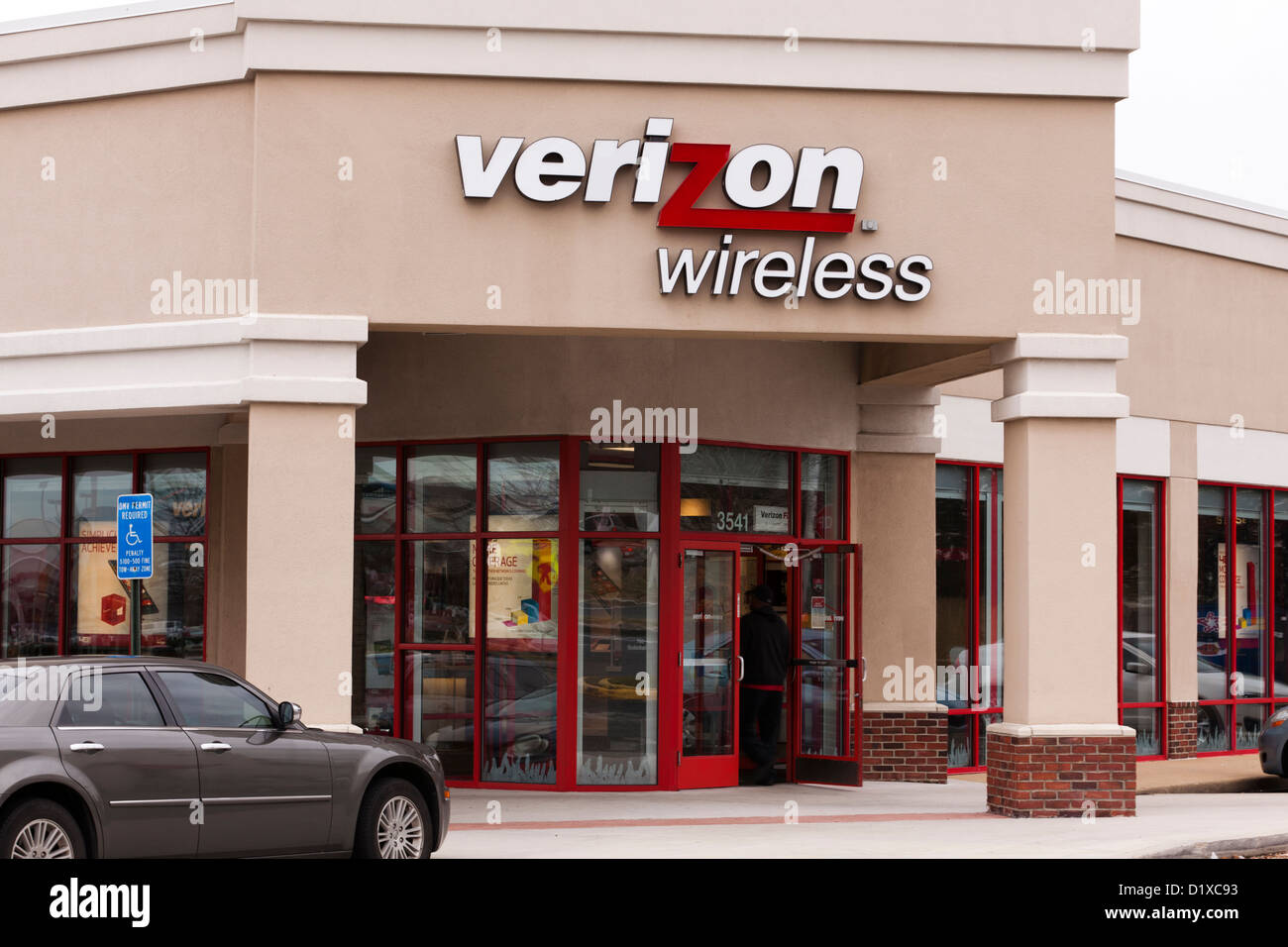 Verizon Wireless retail store Immagini Stock
