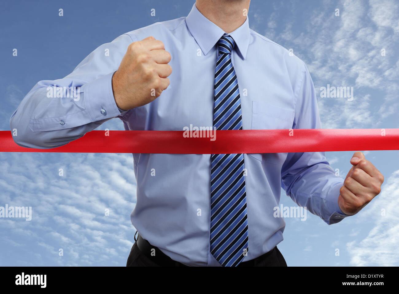 La vittoria di business Immagini Stock