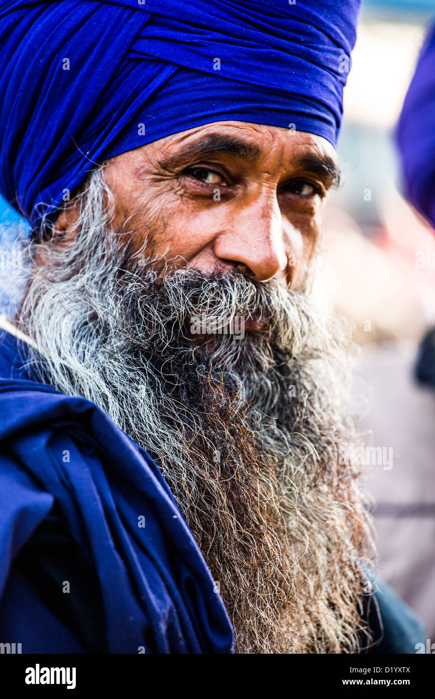 Uomo sikh di Delhi, India Foto Stock