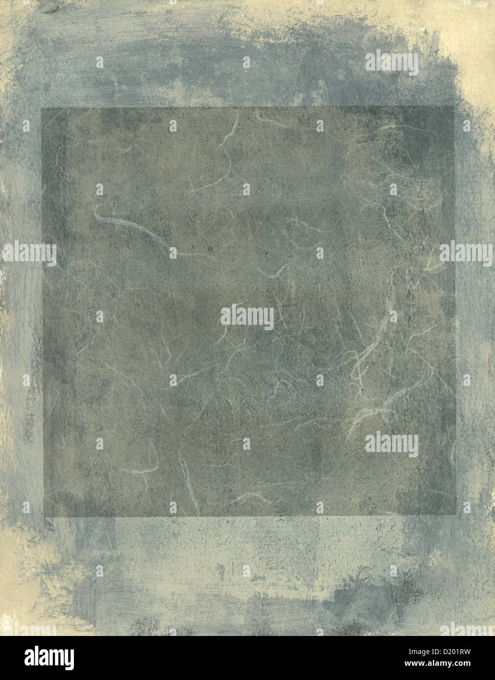 Una pittura astratta toni di grigio e quare. Immagini Stock