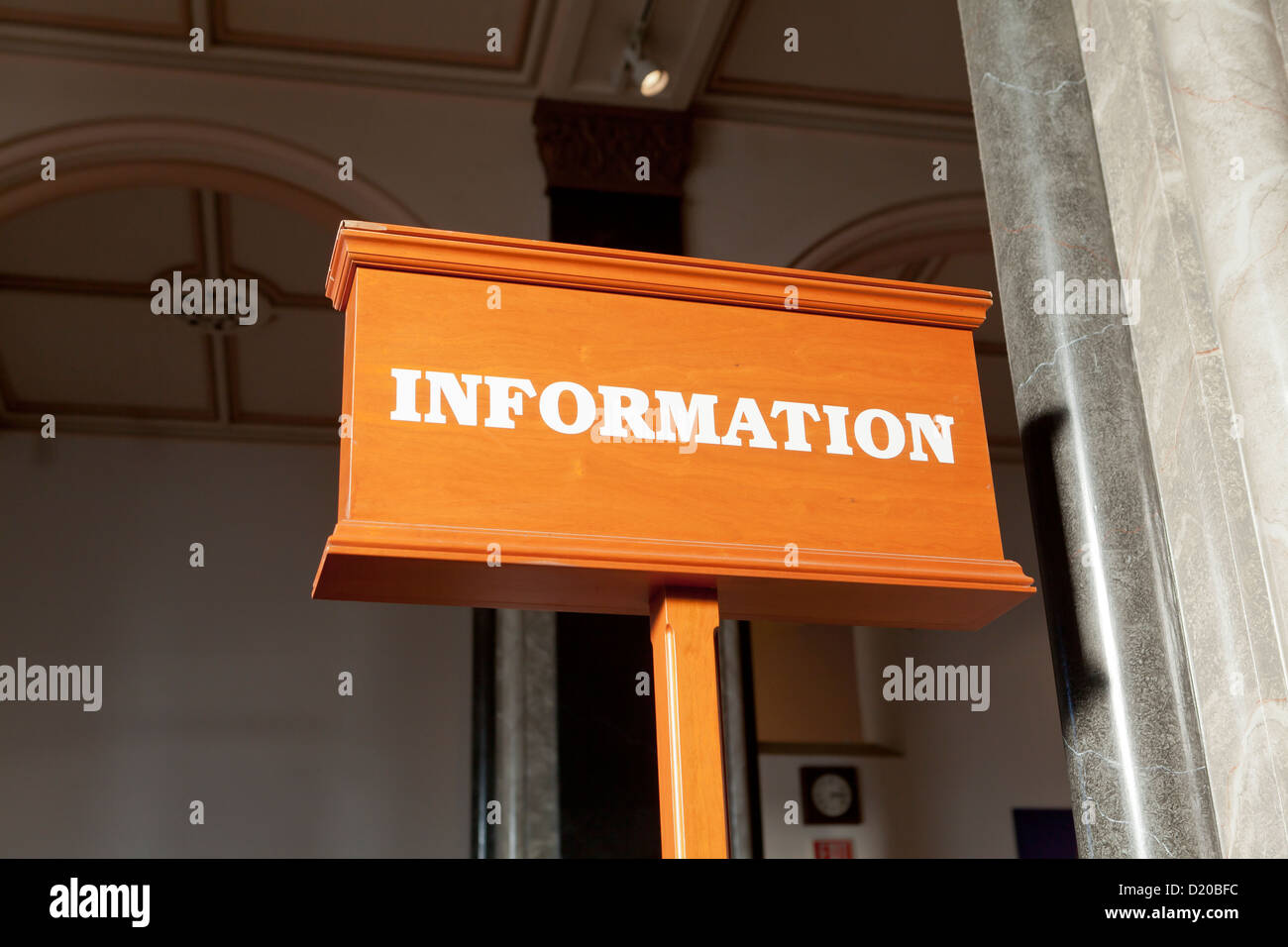 Banco informazioni segno Immagini Stock