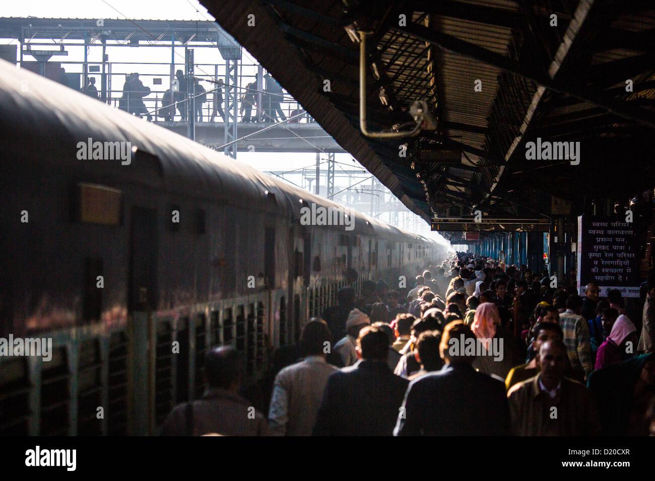 New Delhi Raliway Station, New Delhi, India Immagini Stock