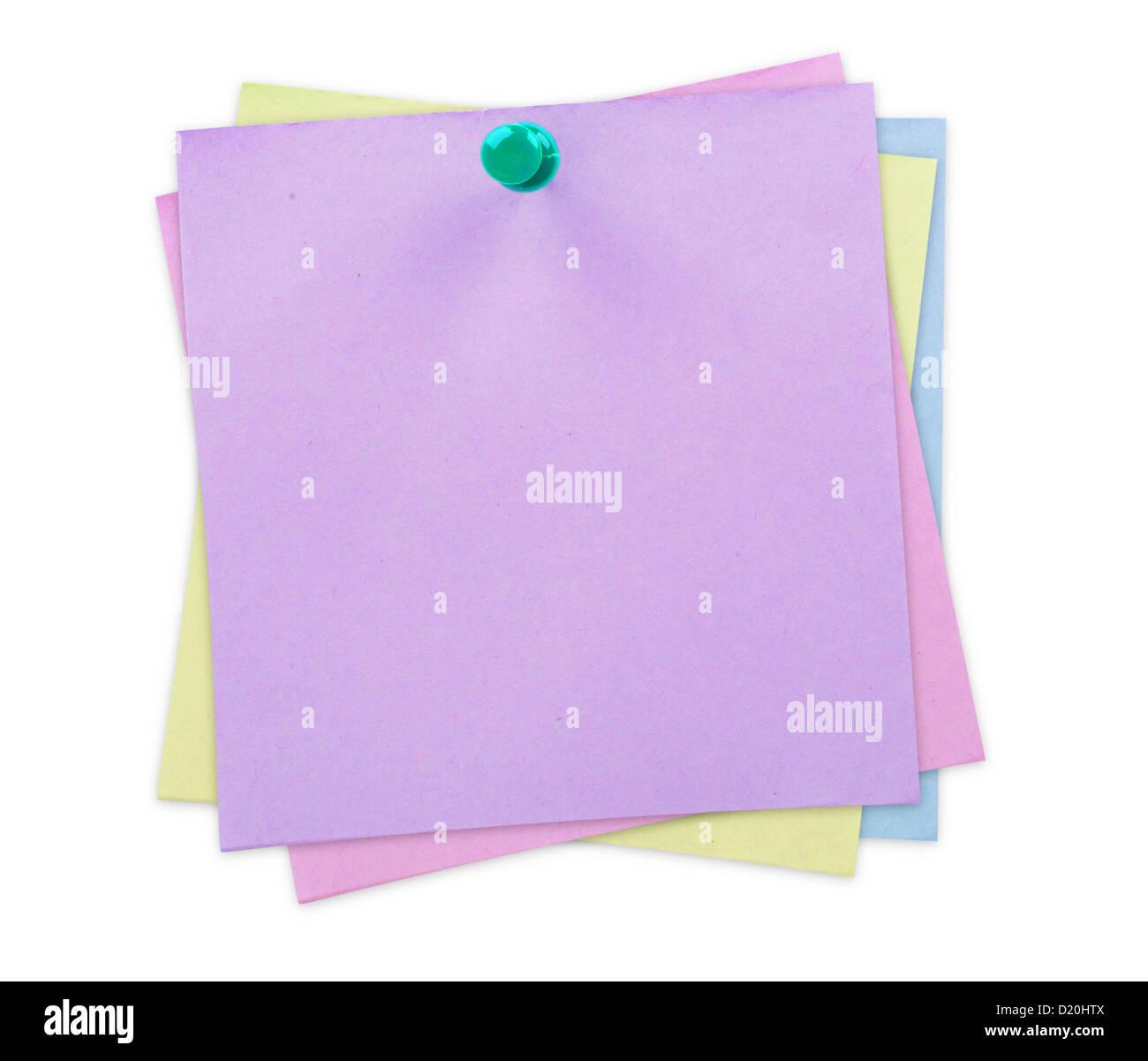 Nota di Sticky Notes Immagini Stock