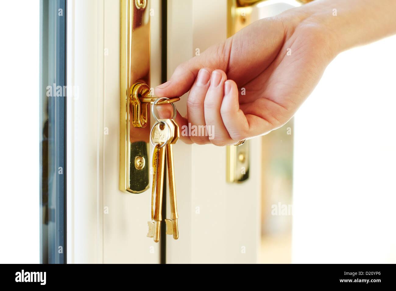 Serratura con chiavi Immagini Stock