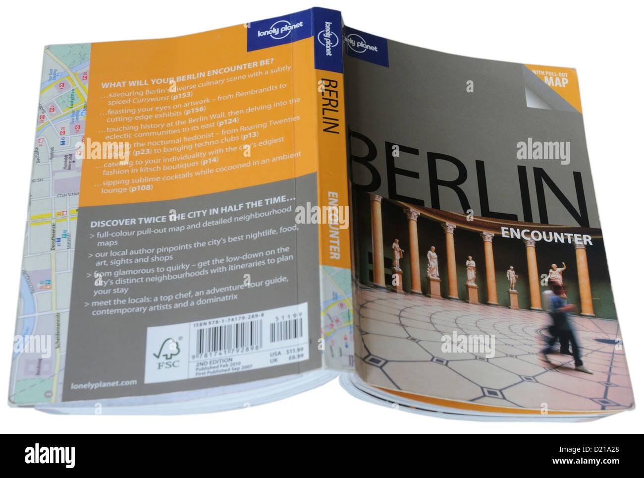 La Lonely Planet, la guida della città di Berlino Immagini Stock