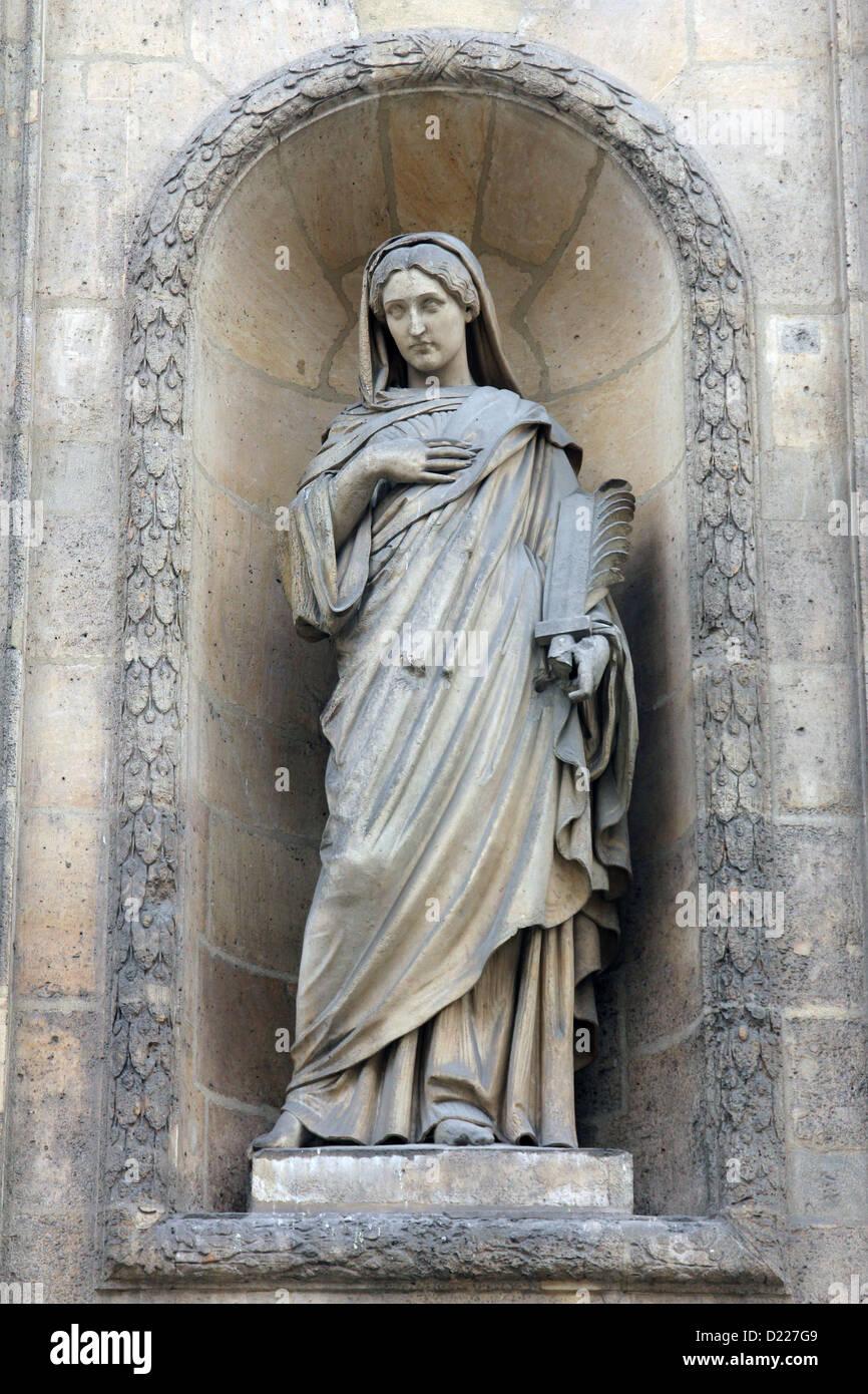 Eugenie, contessa di Teba, Santa Elisabetta di Ungheria chiesa, Parigi Immagini Stock