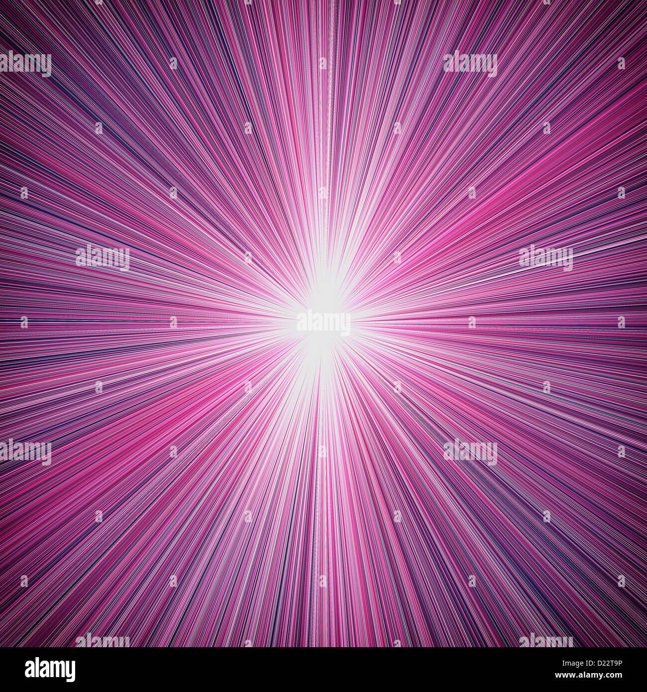 Star burst, lampeggiante raggi viola Immagini Stock
