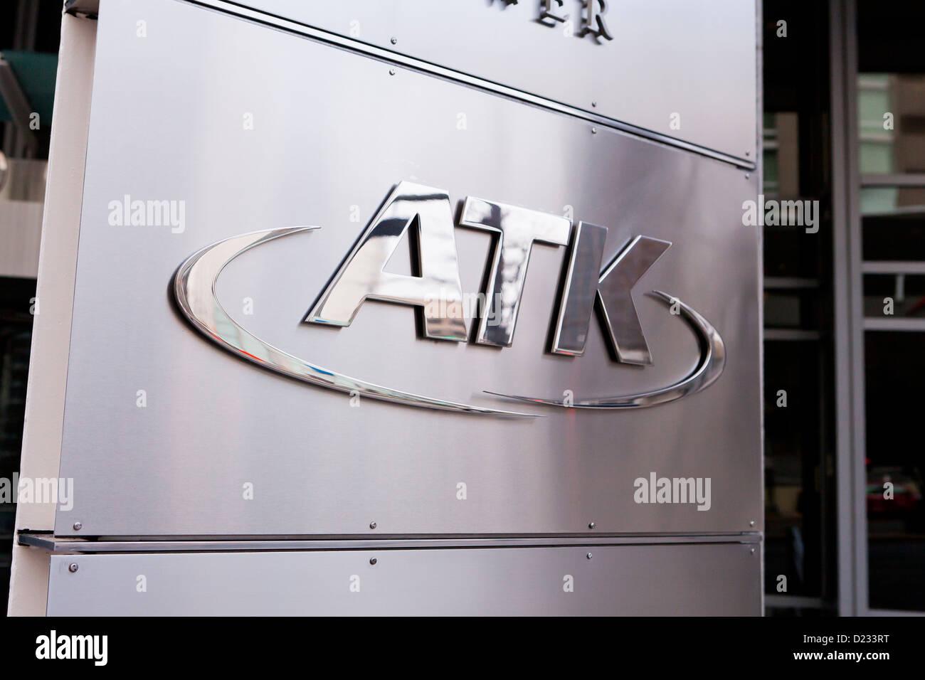 ATK logo azienda Immagini Stock