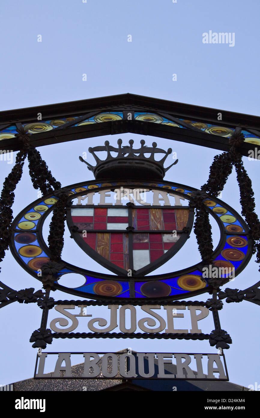 """Sant Josep """" mercato La Boqueria' di Barcellona, vicino alle Ramblas. Immagini Stock"""