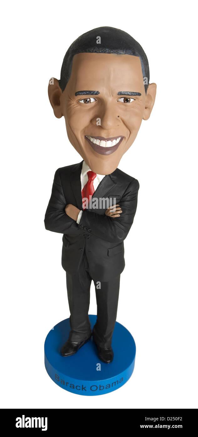 Barack Obama bobble head doll Immagini Stock