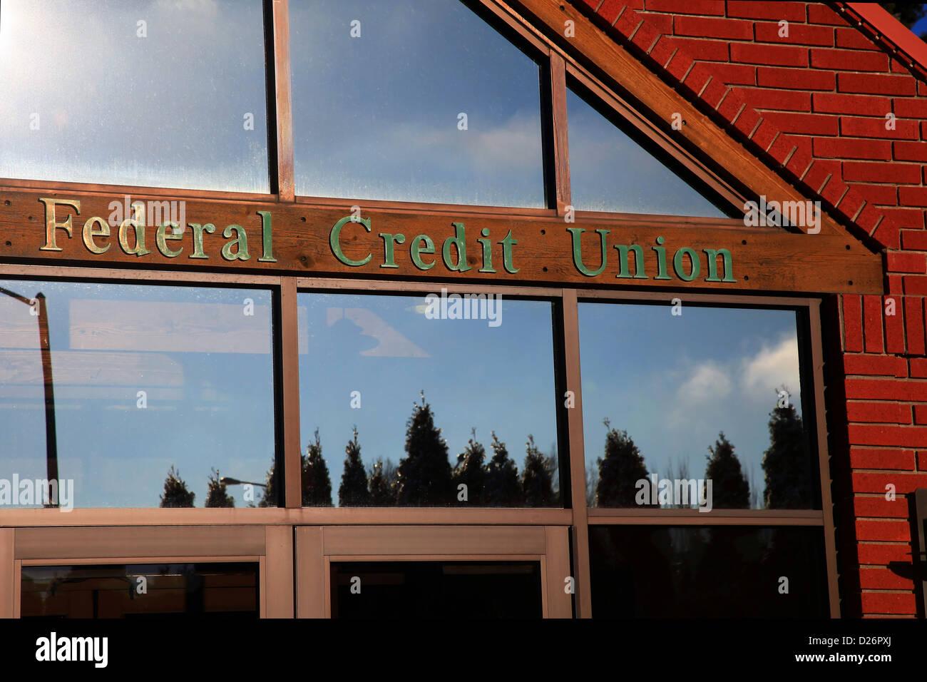 Generic Federal Credit Union sign Immagini Stock