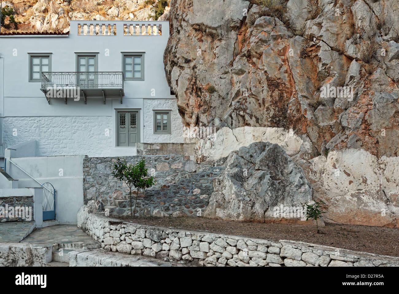 Palazzo tradizionale a Hydra, Grecia Immagini Stock