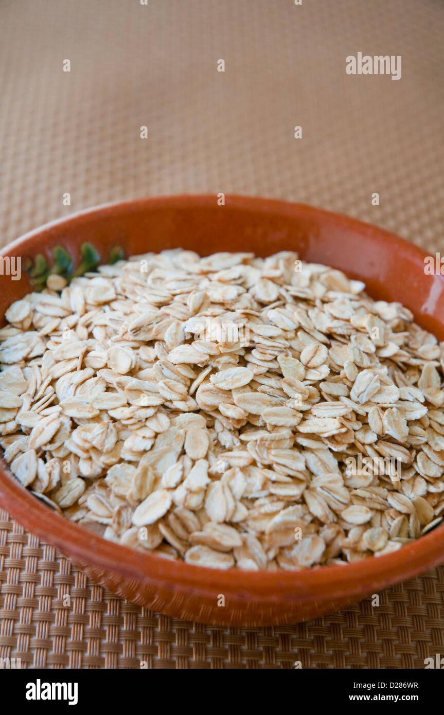 Il Porridge di avena. Chiudere la vista. Immagini Stock