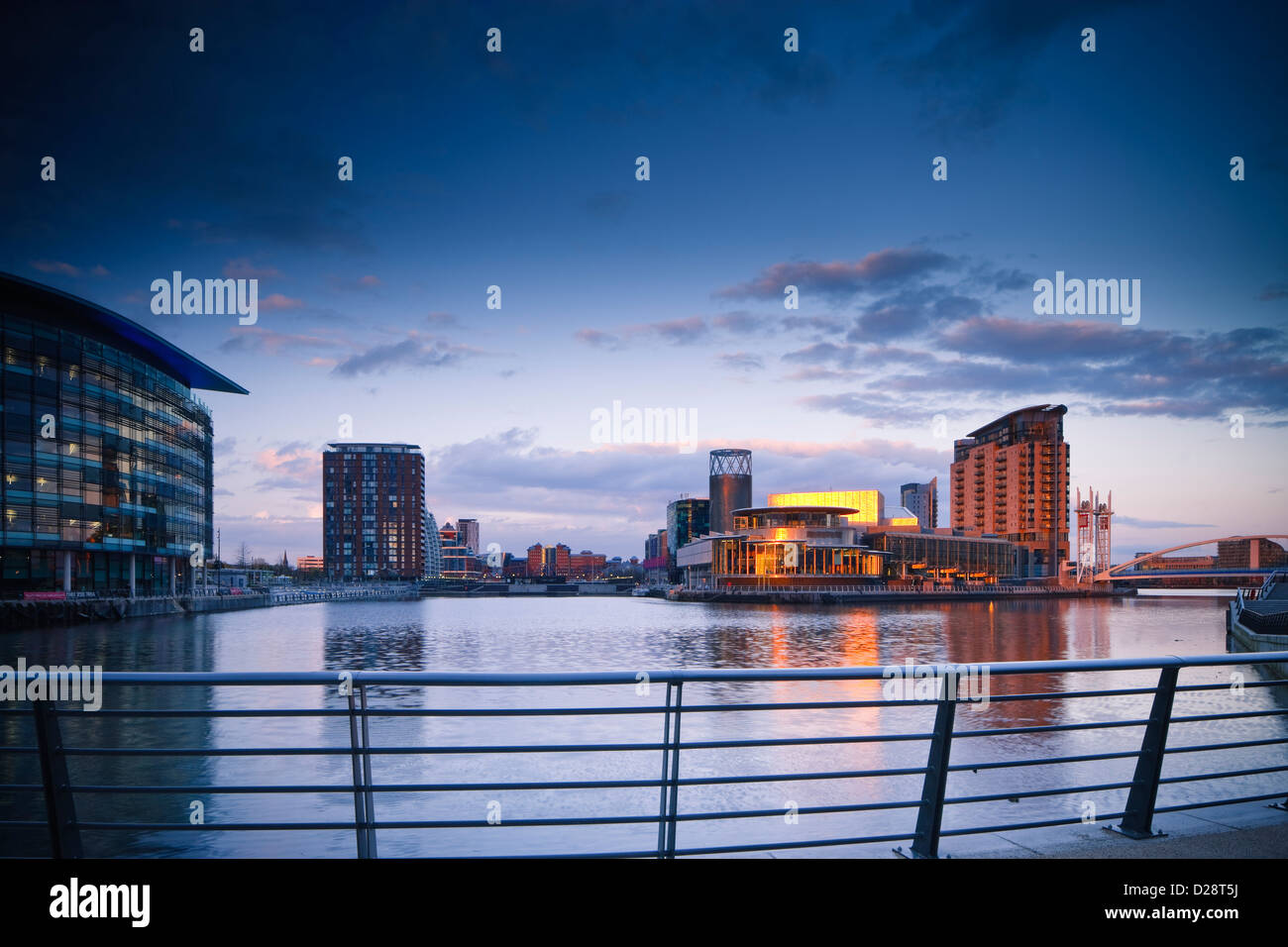 Salford Quays Greater Manchester Lancashire Inghilterra Immagini Stock