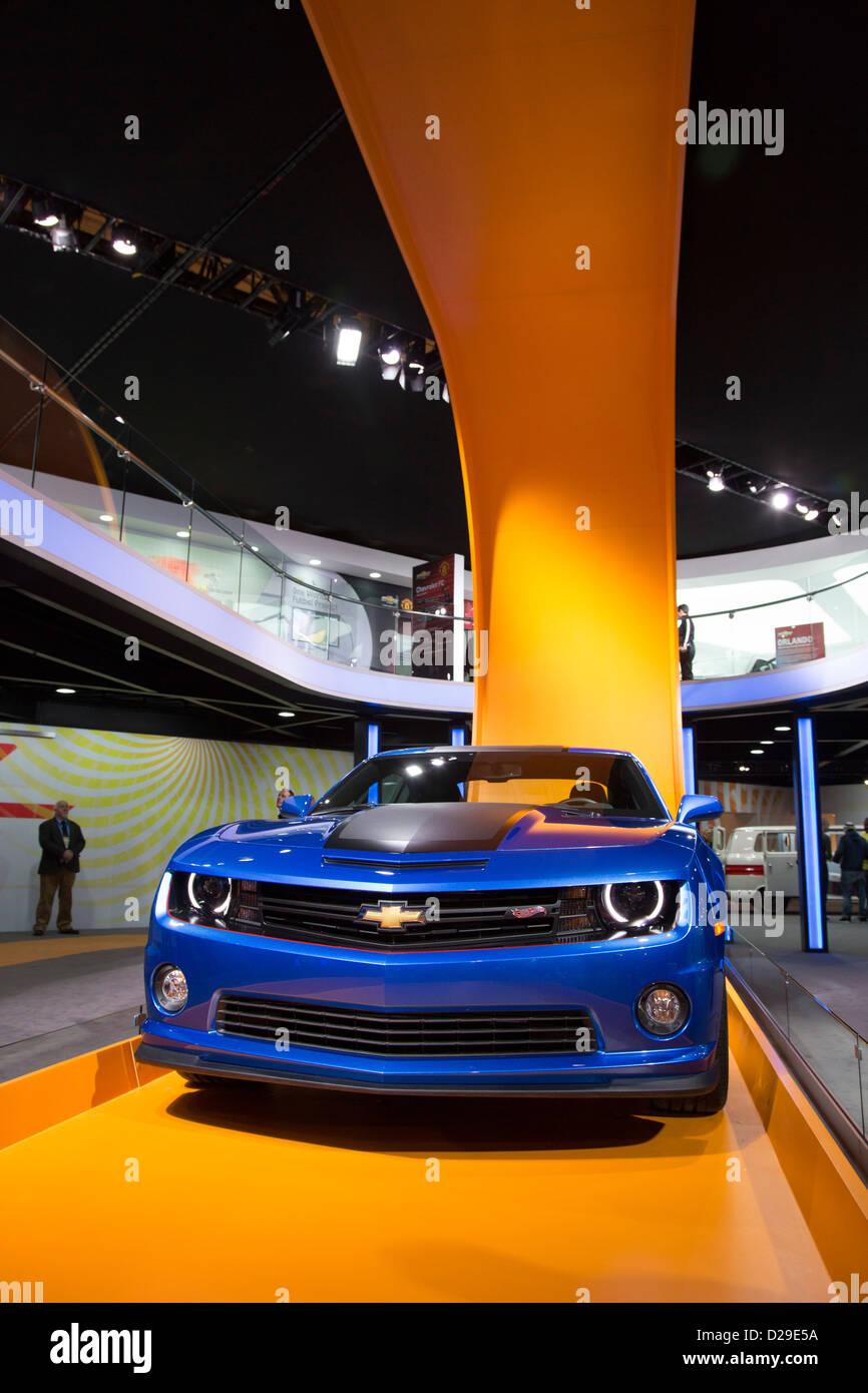 Detroit, Michigan - La Hot Wheels versione della Chevrolet Camaro sul display al North American International Auto Immagini Stock