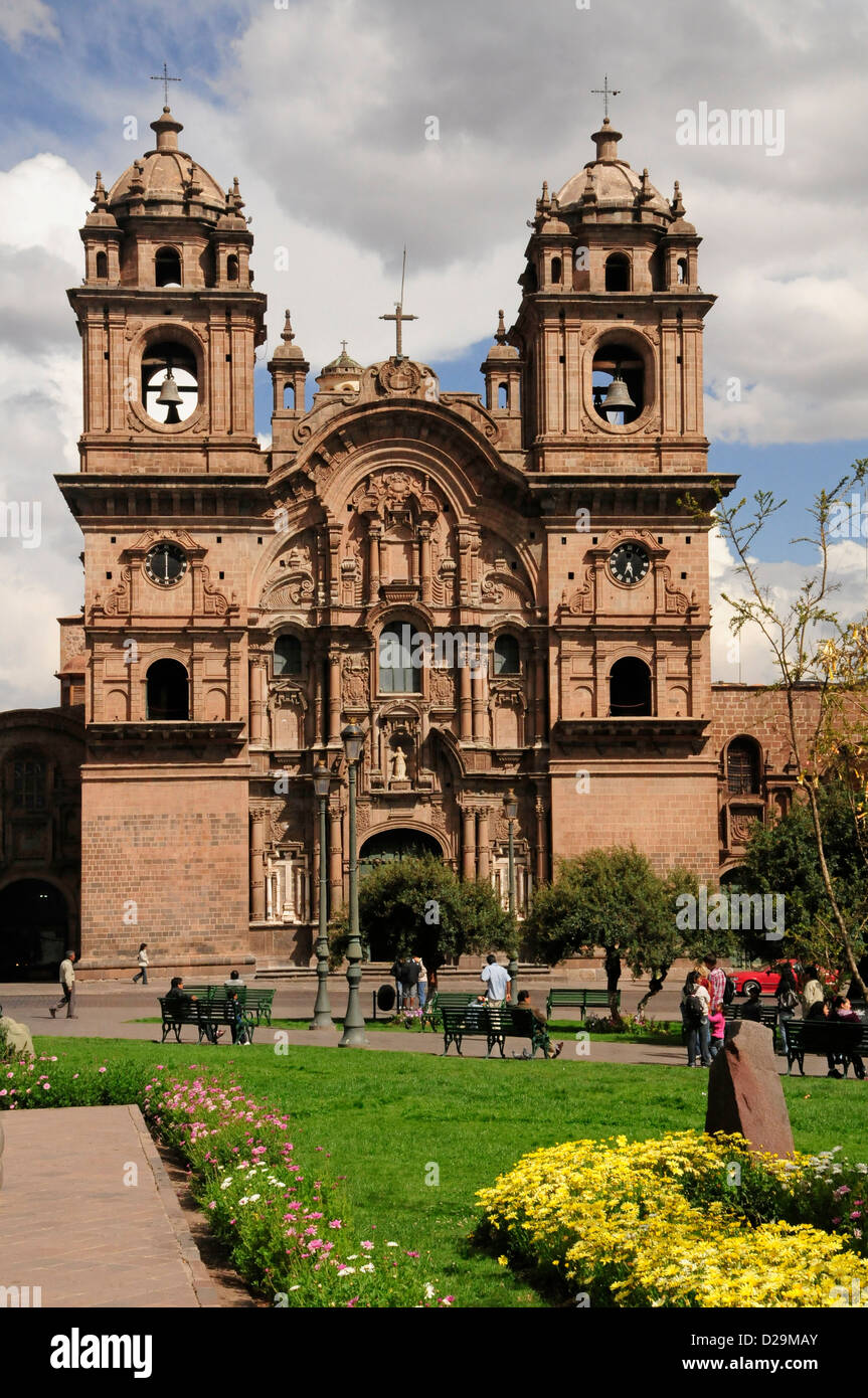 Chiesa della Compagnia di Gesù, Cuzco, Perù Immagini Stock
