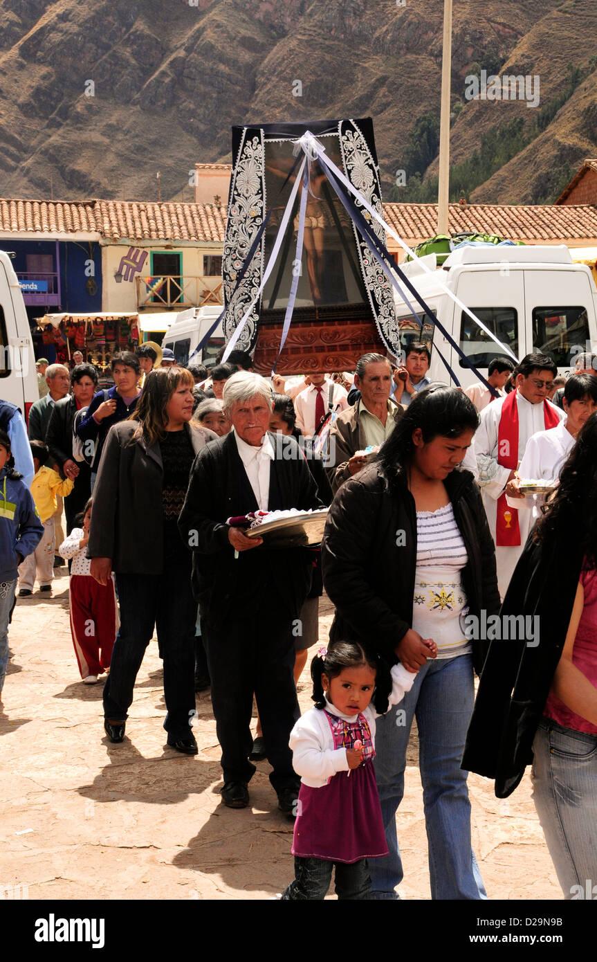 Processione religiosa, Perù Immagini Stock