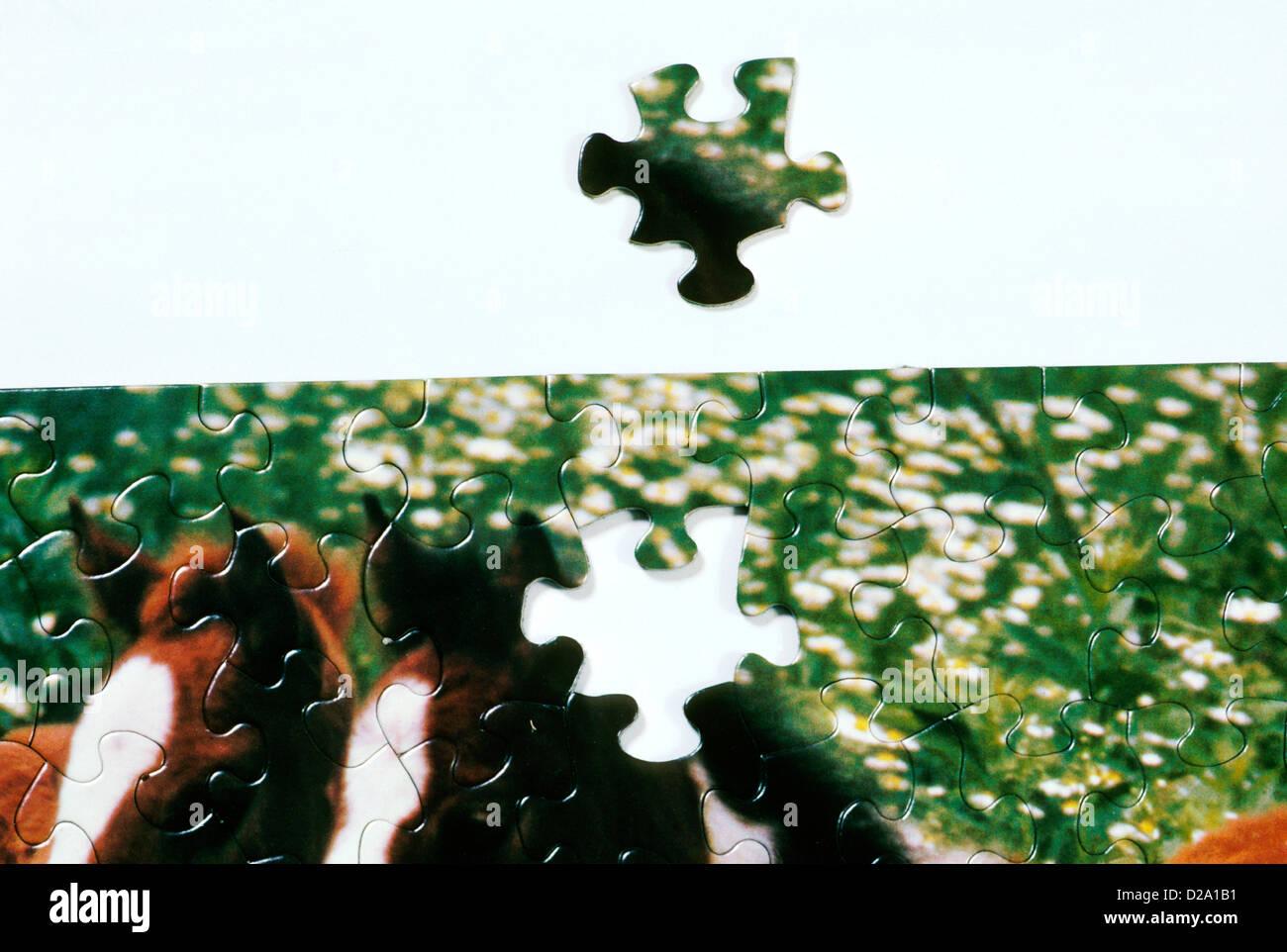 Quasi completa Puzzle Immagini Stock