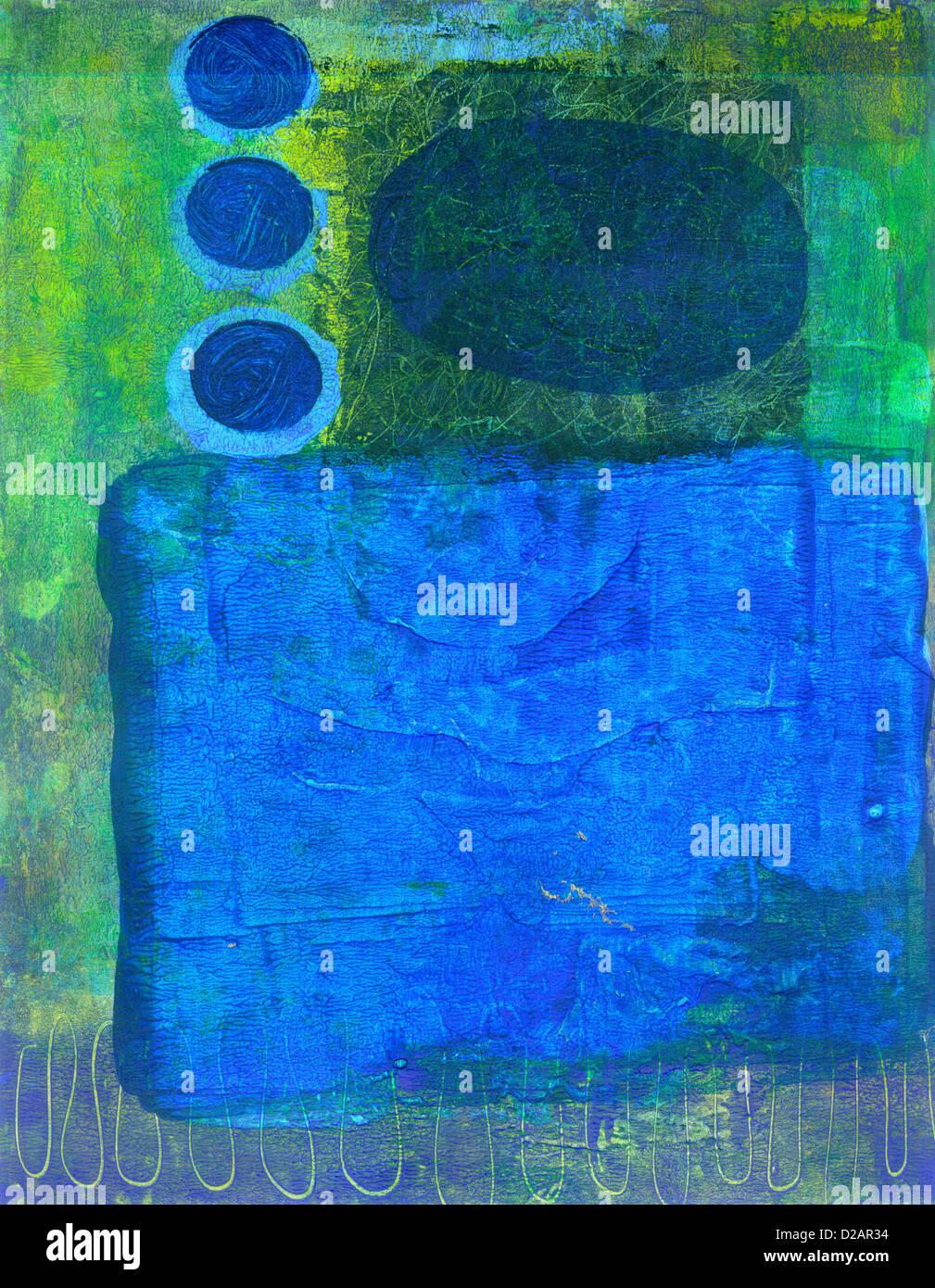 Una pittura astratta Immagini Stock