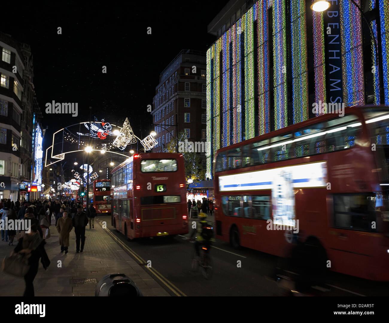 Decorazioni Natalizie Londra.Oxford Streeet Luci E Decorazioni Natalizie Londra Inghilterra Regno
