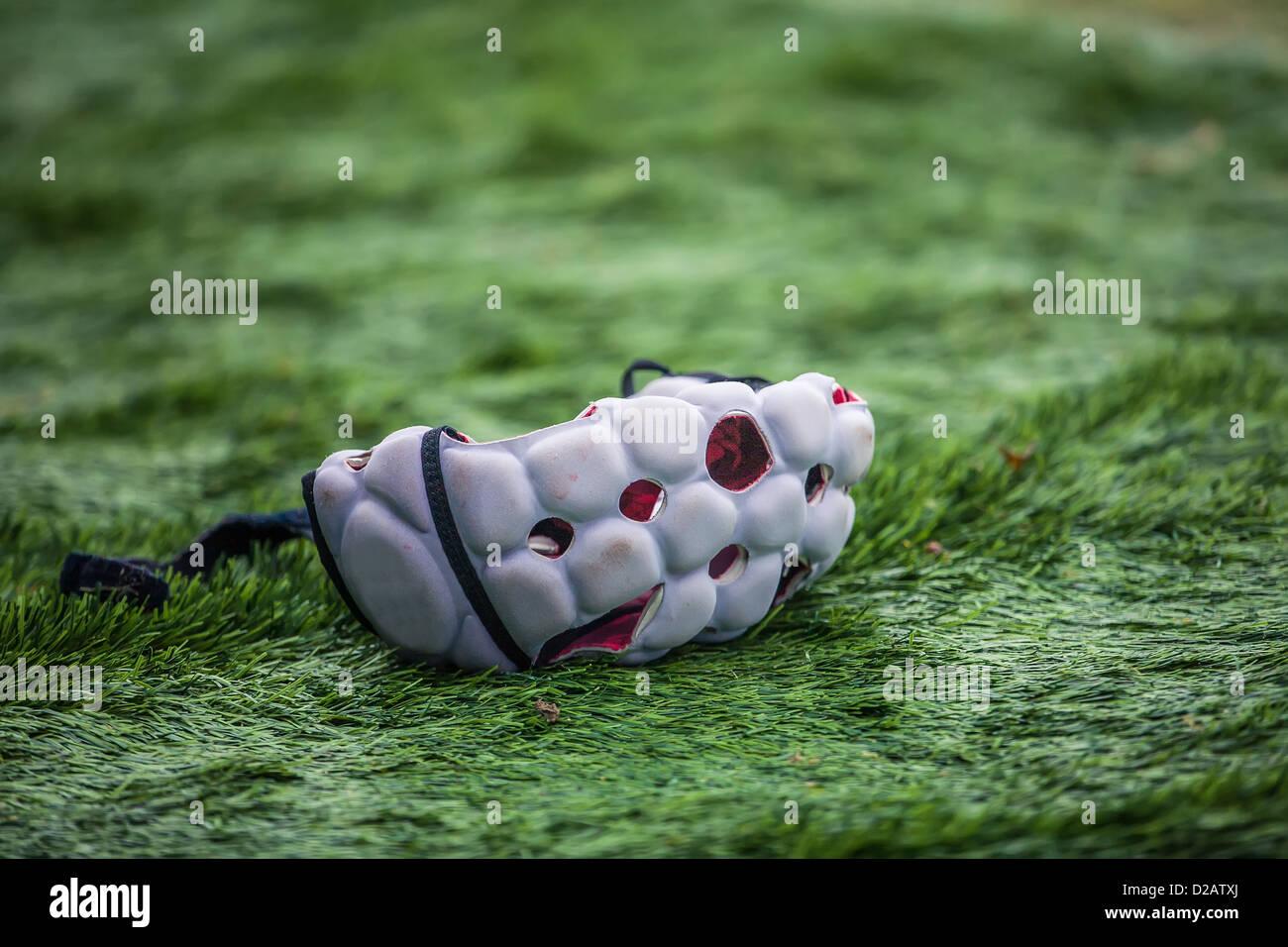 Casco giocatore di rugby Immagini Stock